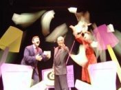 Bill Coelius, David Calvitto, Nancy Walsh, screwmachine/eyecandy, Edinburgh Festival Fringe, 2005 (Scamp Theatre)